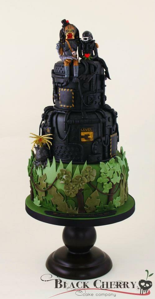 Alien-vs-Predator-Cake