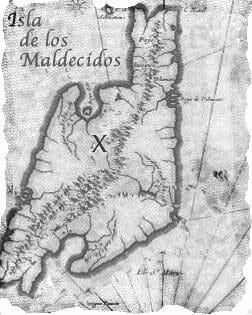 Treasure map for pirate RPG