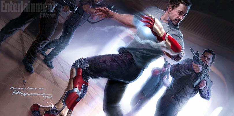 Superhero Week Iron Man 3 Concept Art Extremis