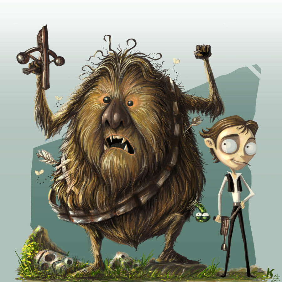 chewie_and_han_by_kehchoonwee-d4hx7jo