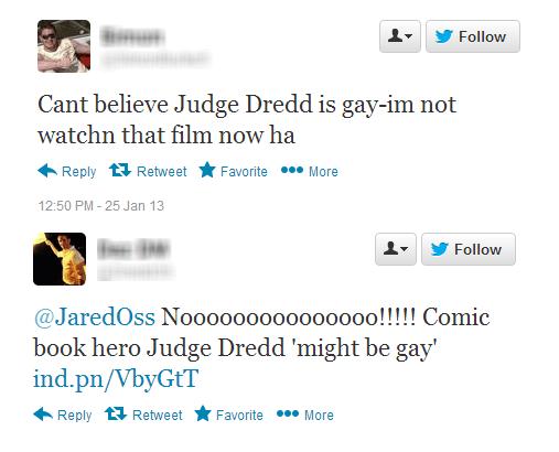 Dredd tweets