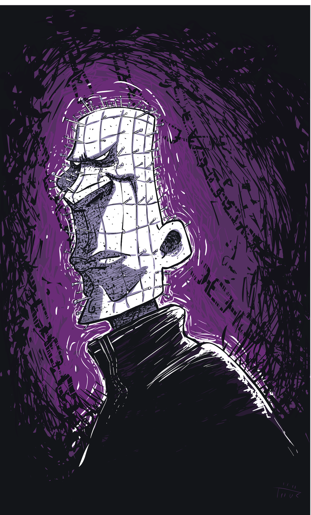 Cartoon Pinhead
