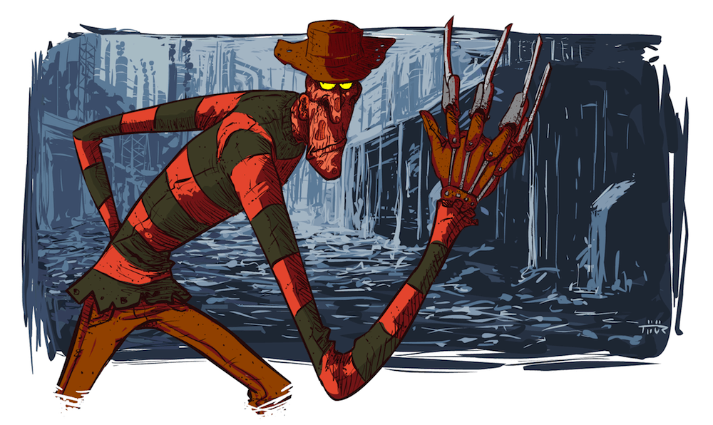 Cartoon Freddy Krueger