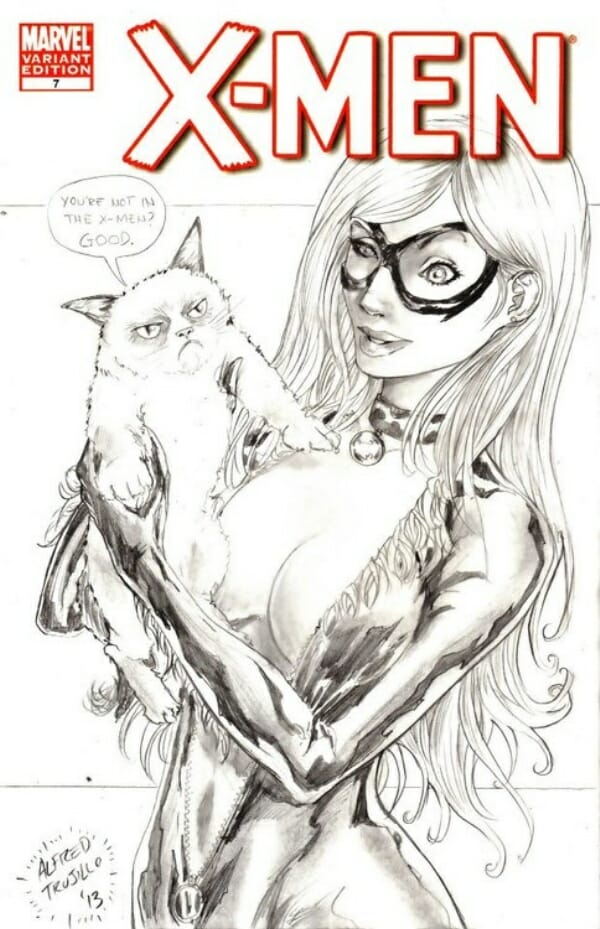 Grumpy-Cat-Meets-Black-Cat