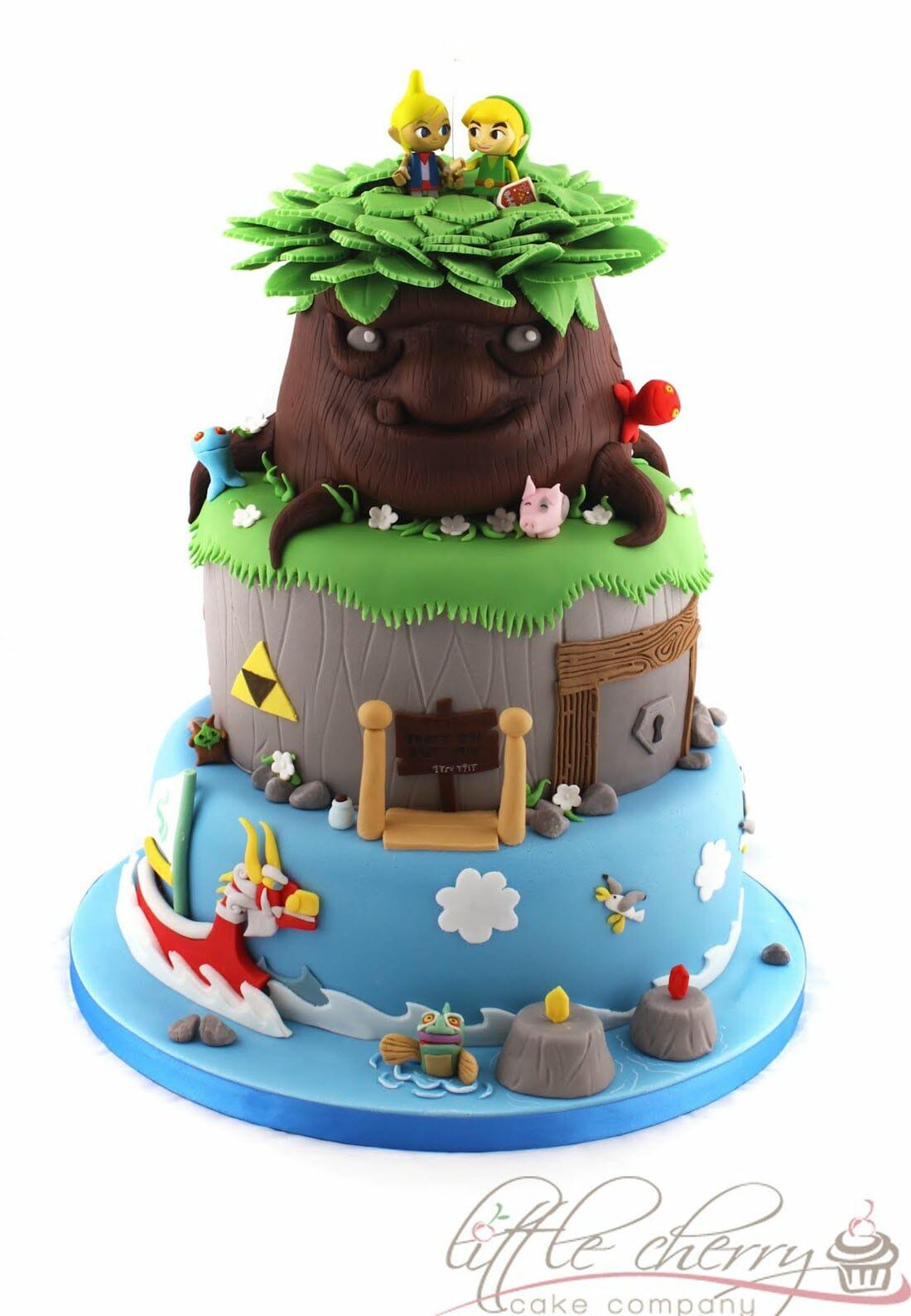 Magnificent Legend Of Zelda The Wind Walker Cake Funny Birthday Cards Online Elaedamsfinfo