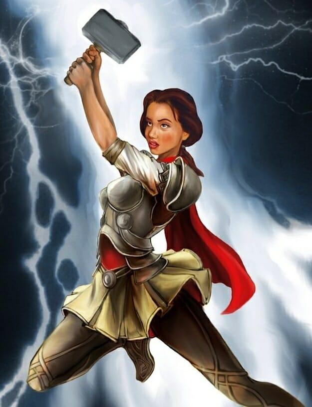 Belle as Thor