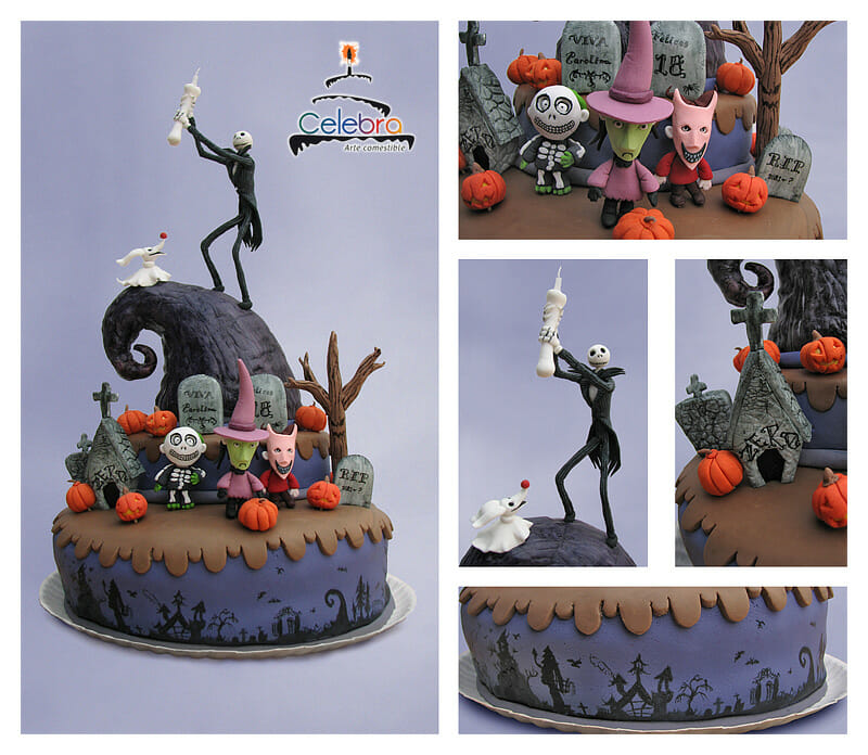 Super The Nightmare Before Christmas Birthday Cake Personalised Birthday Cards Paralily Jamesorg