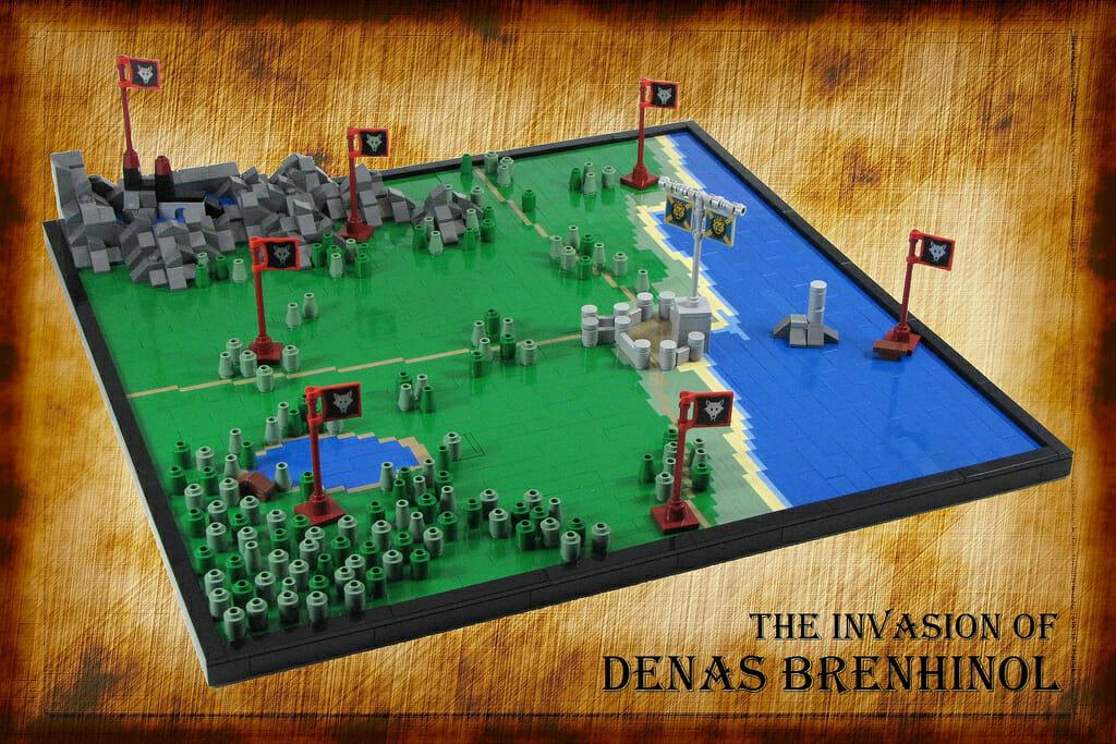 LEGO battle map