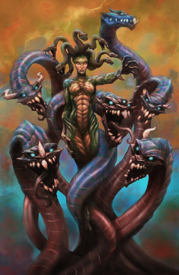 Medusa and Hydra by Alex Lopez