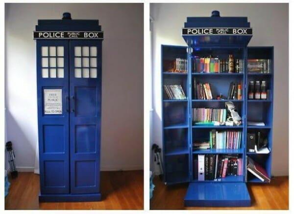 Tardis bookcase 1