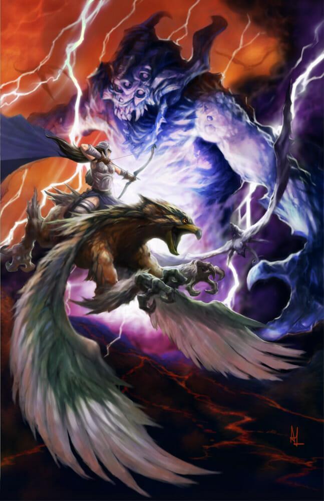 Valkyrie vs Dragon Lord by Alex Lopez