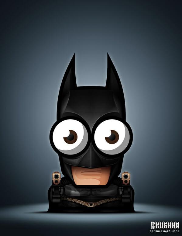 Big-Eyed-Superheroes-Ahmad-Kushha-Batman-Justice-League
