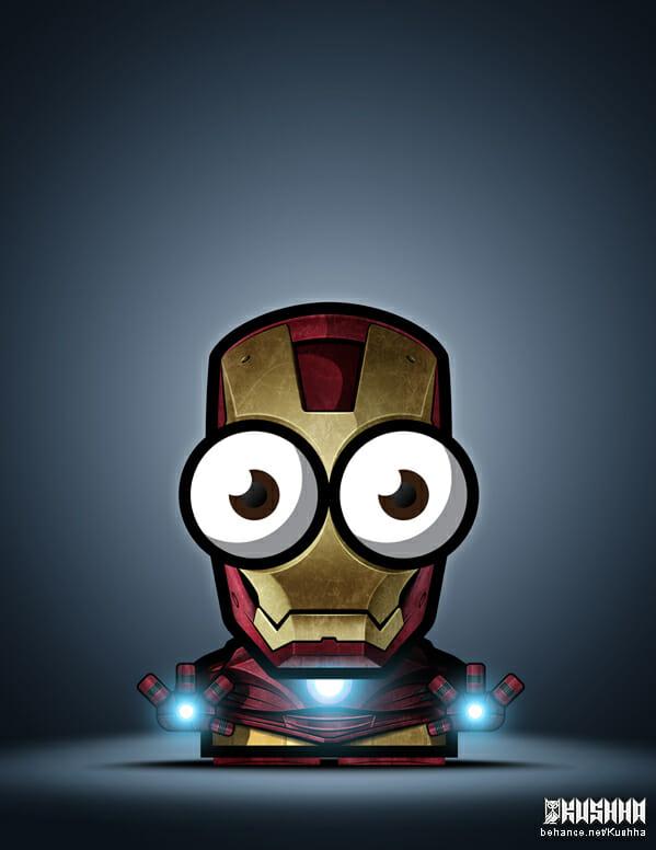 Big-Eyed-Superheroes-Ahmad-Kushha-Iron-Man-Avengers