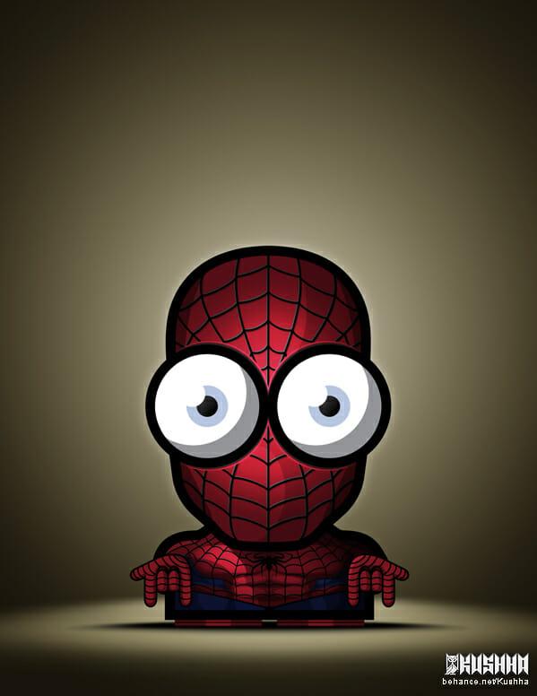 Big-Eyed-Superheroes-Ahmad-Kushha-Spider-Man
