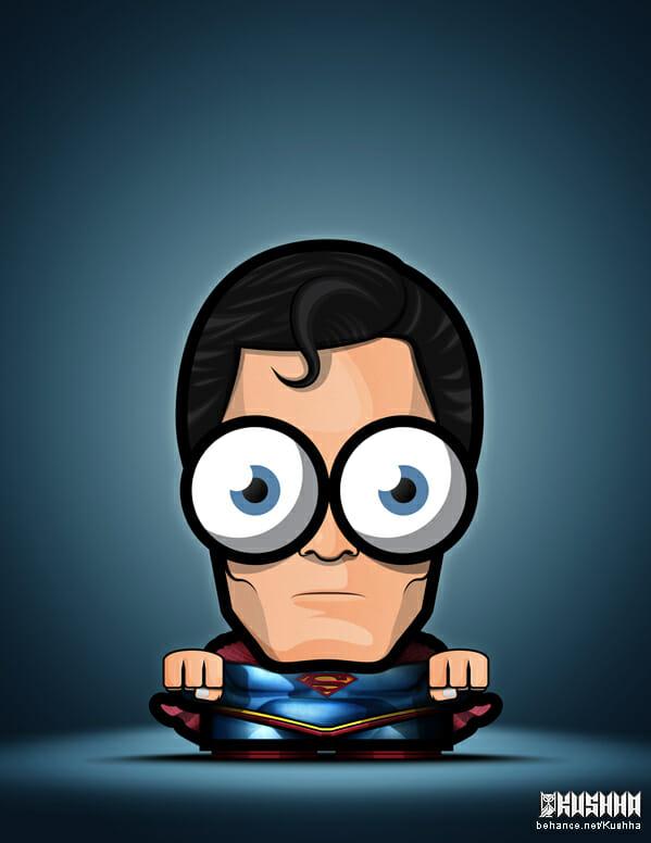 Big-Eyed-Superheroes-Ahmad-Kushha-Superman-Jusice-League-Man-of-Steel