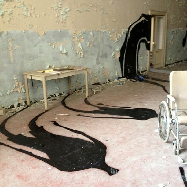 Shadows In An Abandoned Psychiatric Hospital