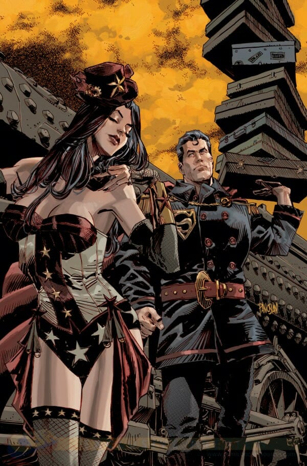 Superman/Wonder Woman #5 variant by Dan Panosian Read more at http://www.geeksaresexy.net/2014/01/11/dcs-new-52-to-go-steampunk-in-february-gallery/#2edM5FsfBq2B8jsu.99