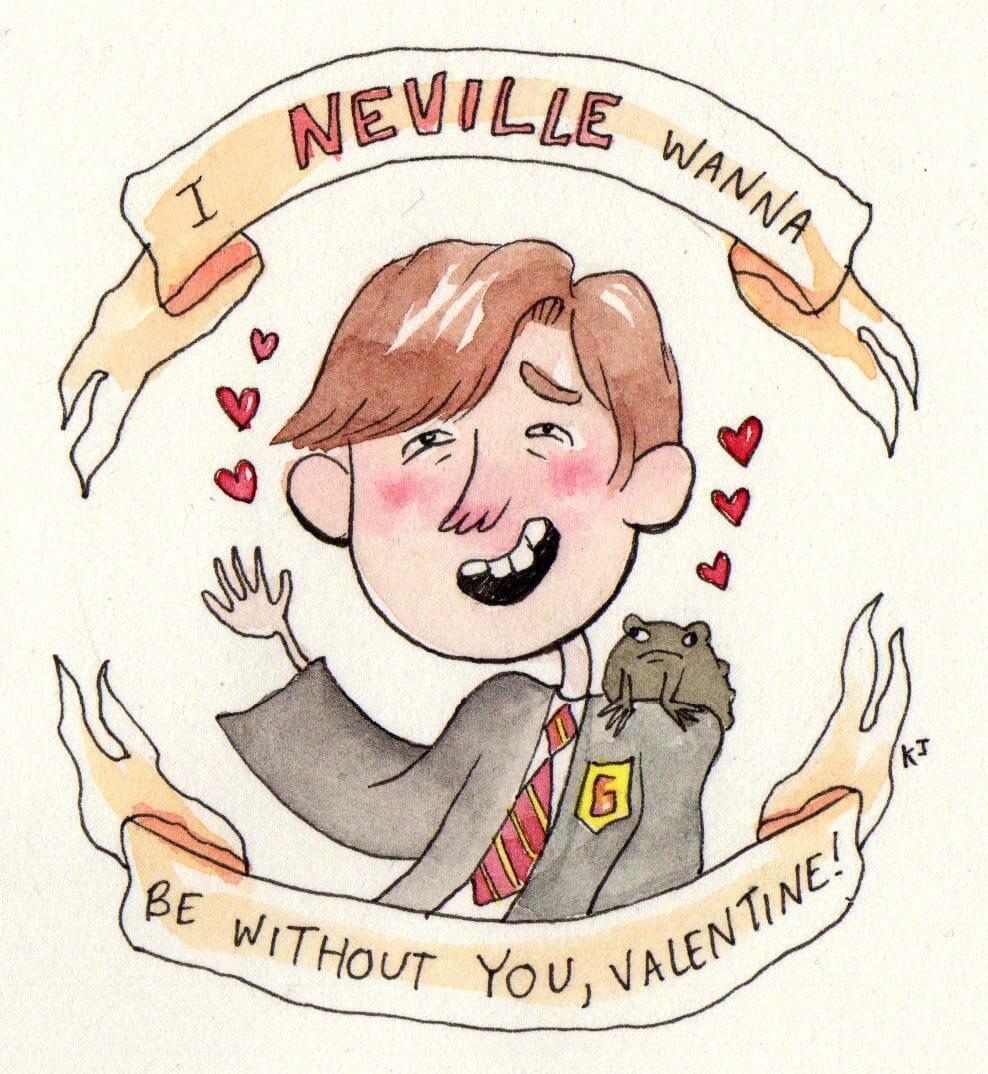 Harry Potter Valentine S Day Cards