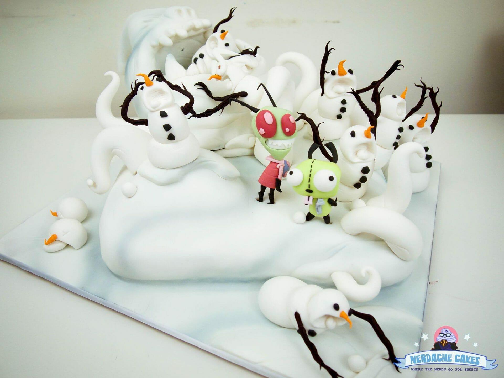 Invader Zim cake 4