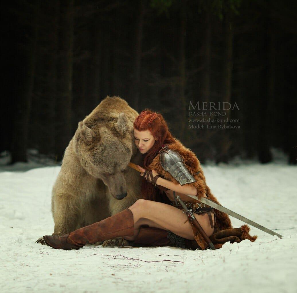 Merida bear cosplay 1