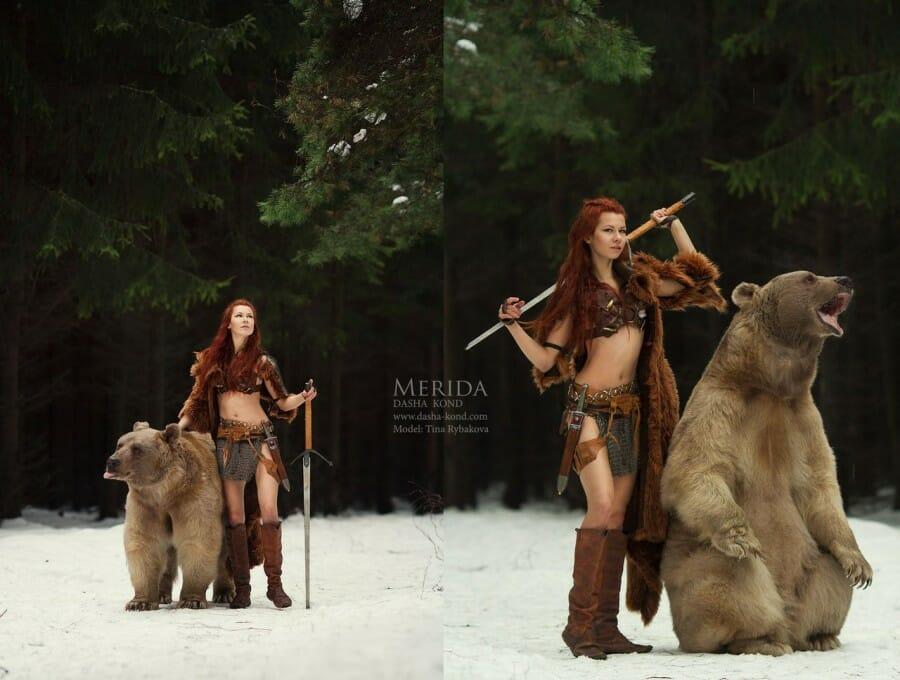 Merida bear cosplay 2