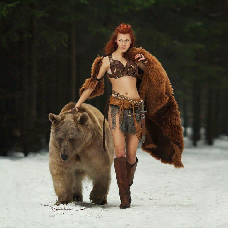 Merida bear cosplay 4