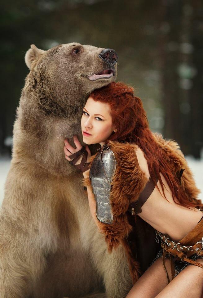 Merida bear cosplay 5