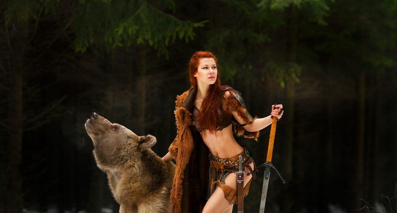 Merida bear cosplay 6