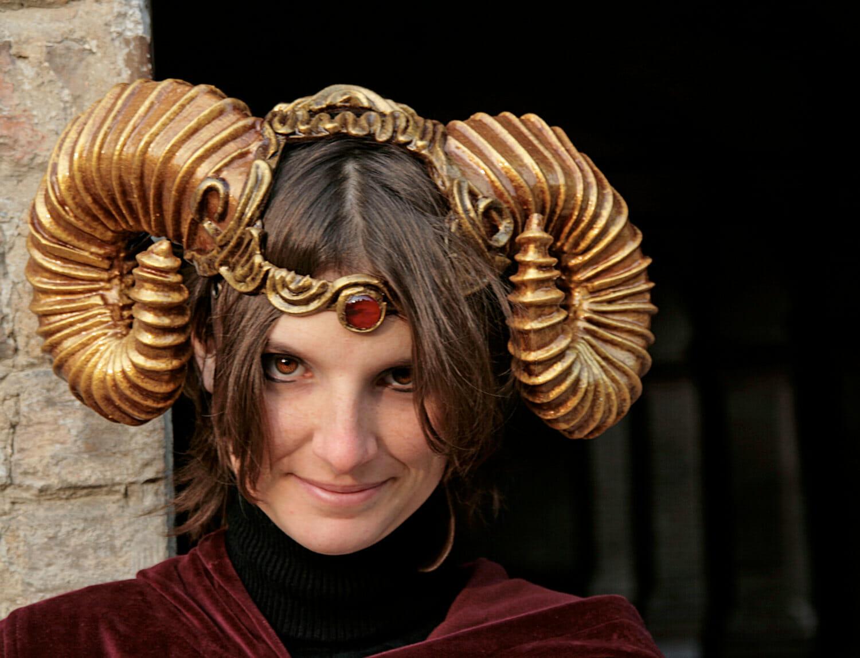 Steampunk demon horns