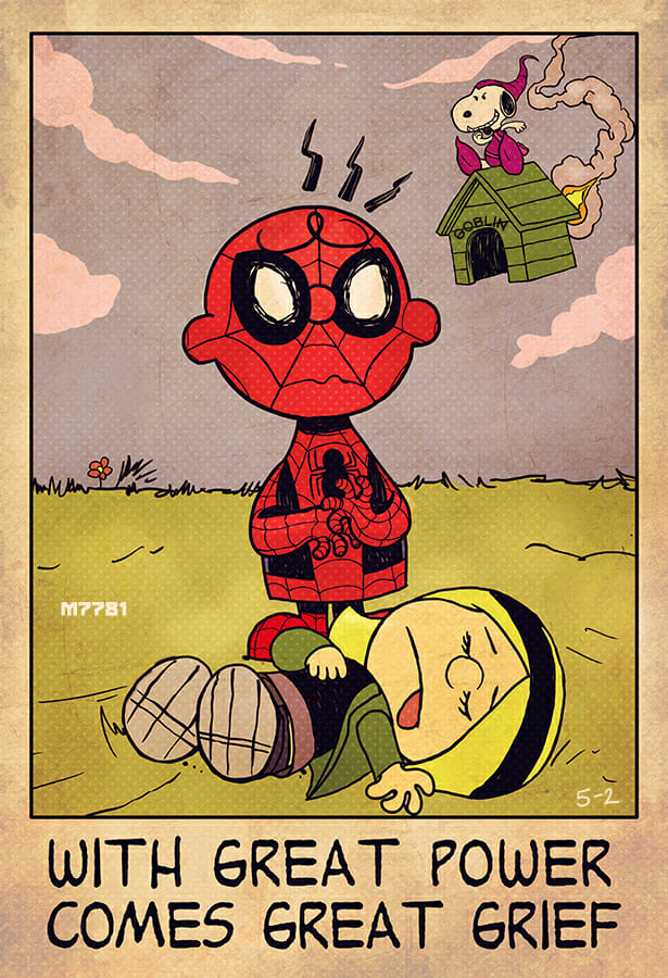 charlie-brown-and-spider-man-art-mashup-with-great-power-com