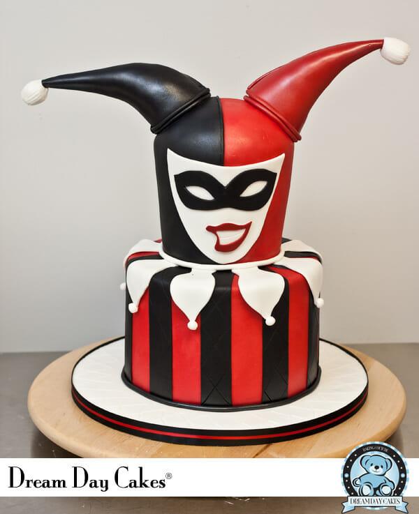 Pleasing Superhero Week Harley Quinn Birthday Cake Funny Birthday Cards Online Fluifree Goldxyz