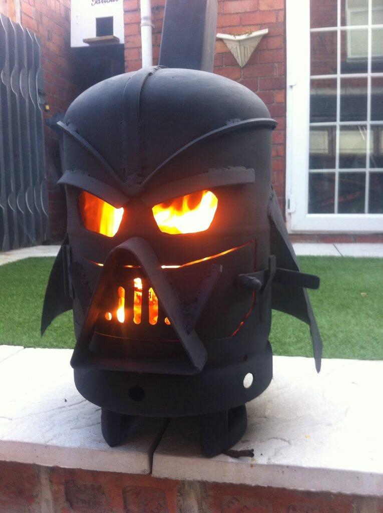 Darth Vader log burner 1