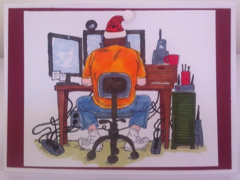 Geek Desk Christmas
