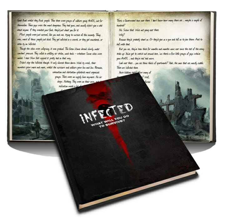 Infected Zombie RPG book sample