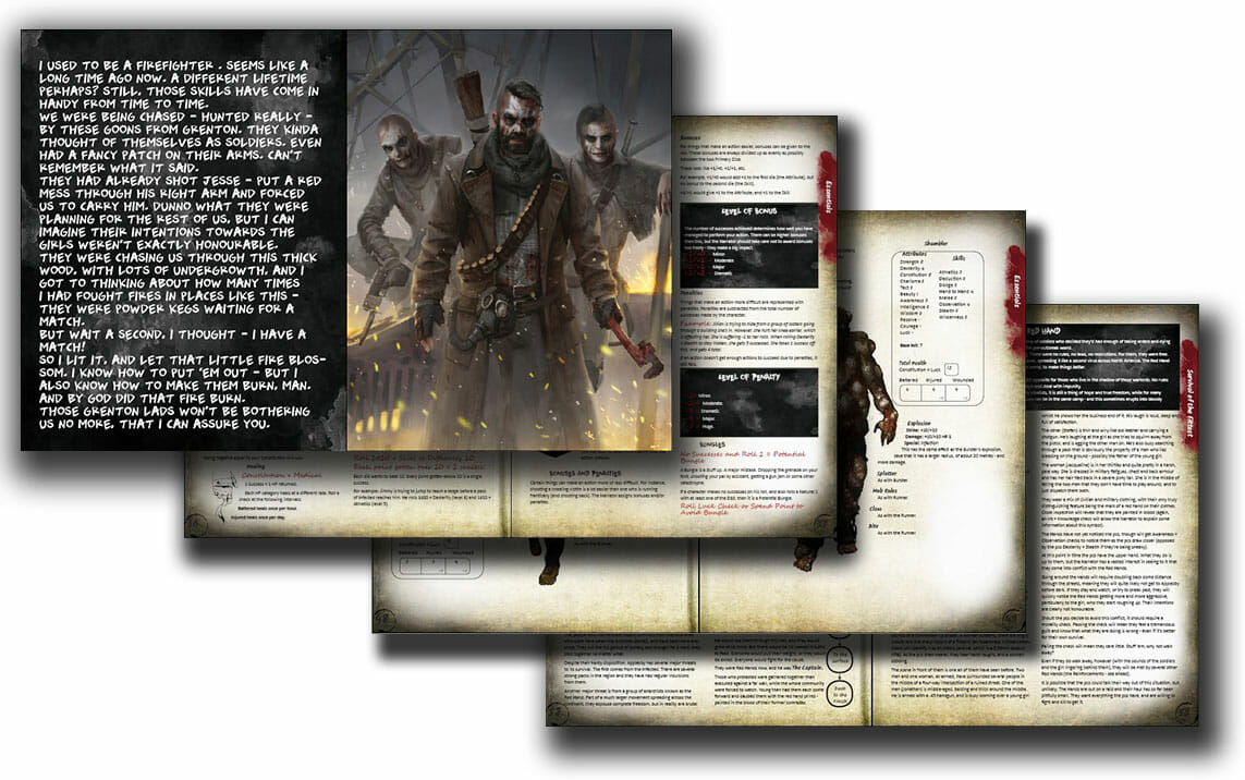 Sampler Spread - Infected Zombie RPG