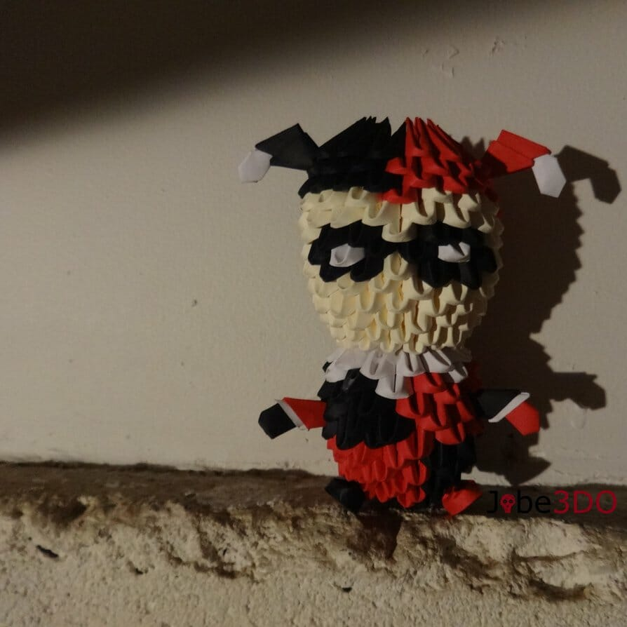 3D Origami - Chibi Harley Quinn