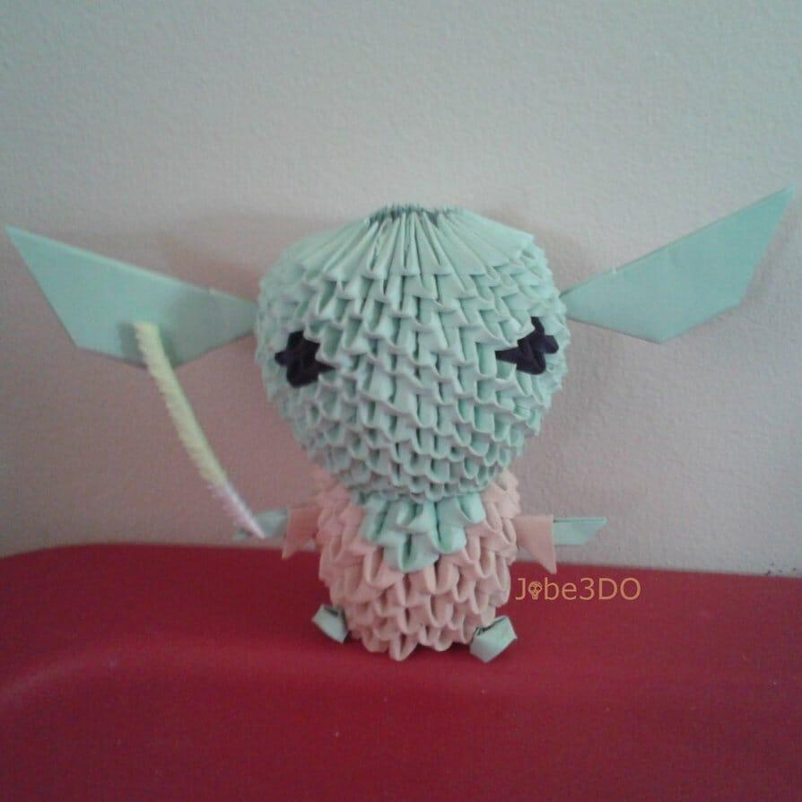 3D Origami - Chibi Yoda