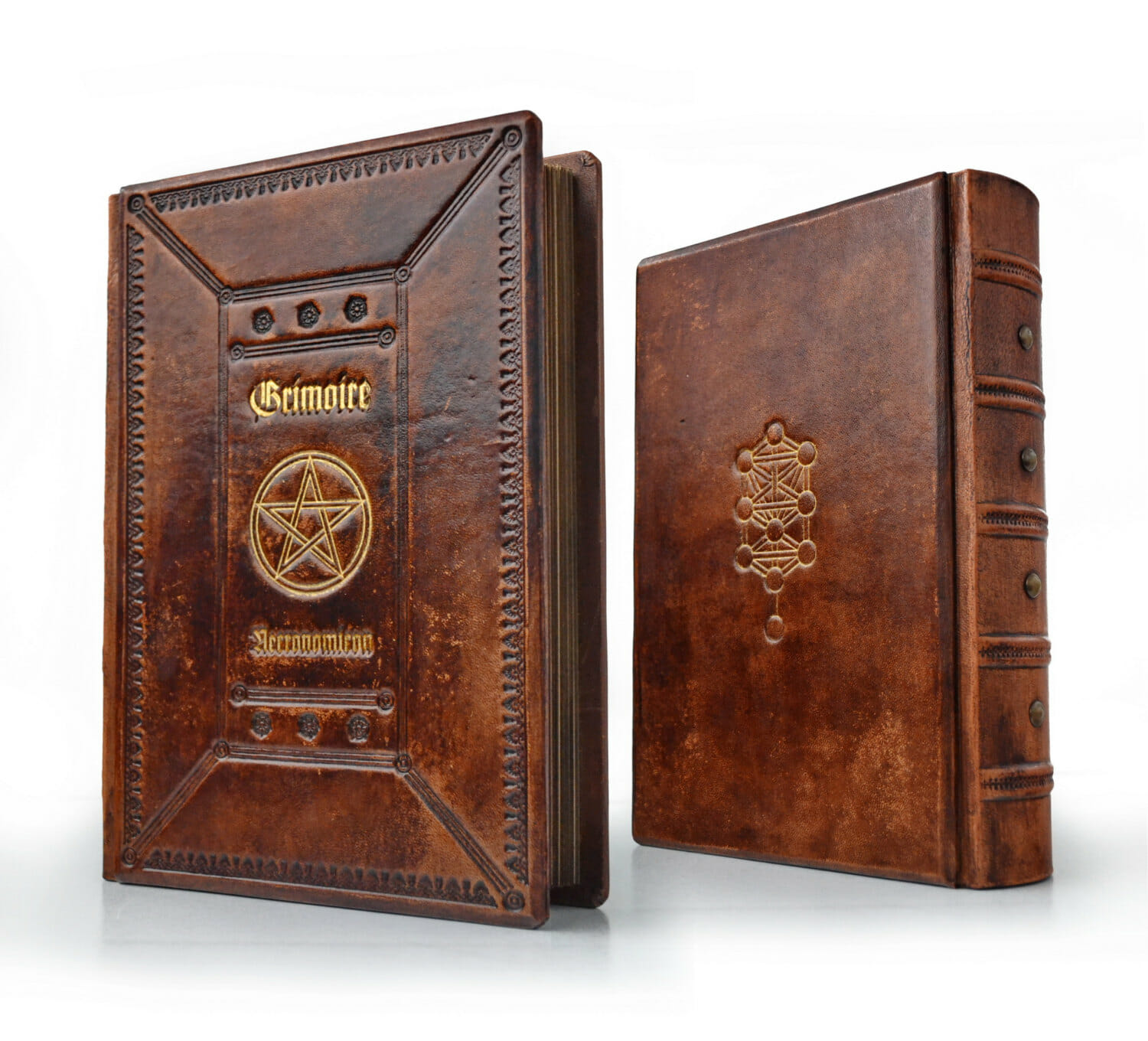 Grimoire leather journal