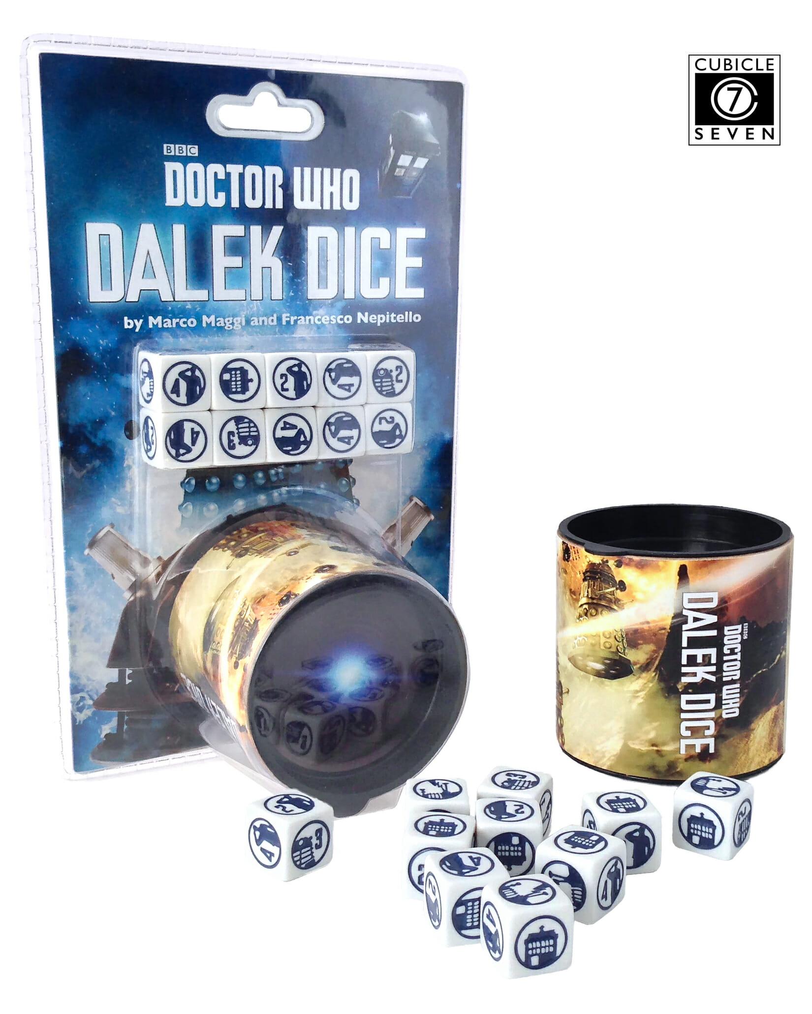 Dalek Dice PackShot  Dice and Tub
