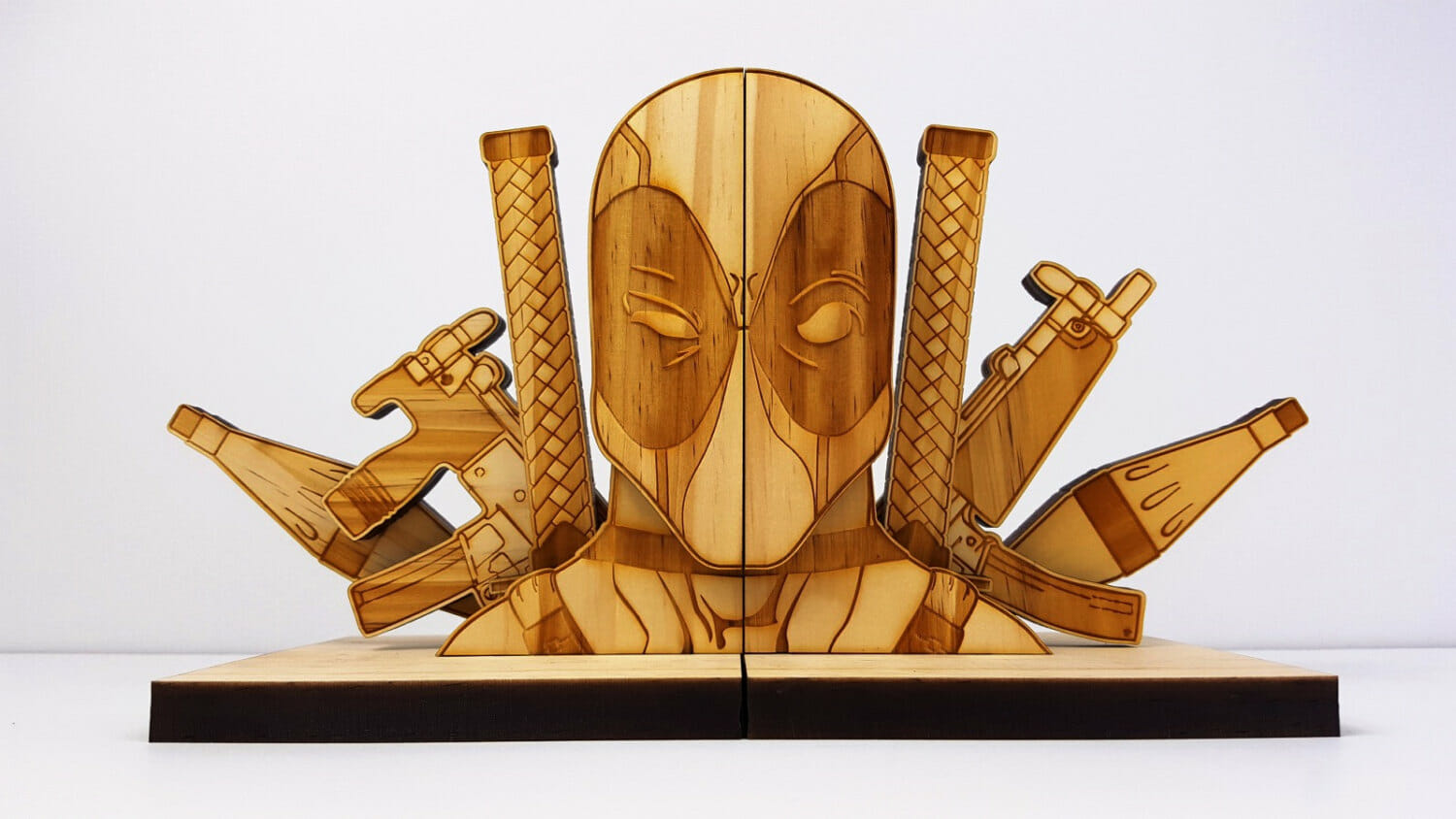 wooden-bookends-deadpool