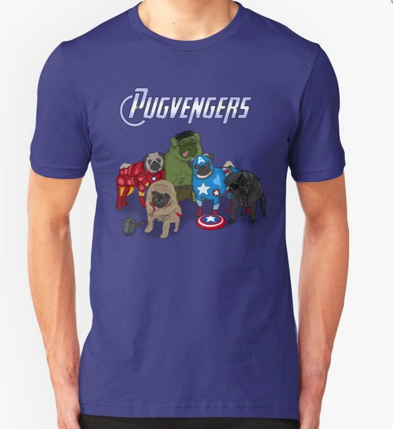Pugvengers t-shirt