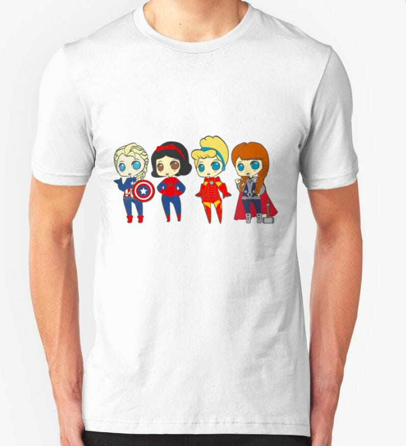 Superhero Princesses t-shirt