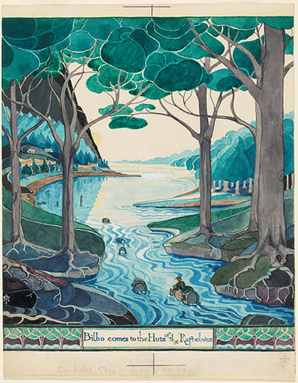 Bilbo comes to the Huts of the Raft-elves - Credit: © The Tolkien Estate Limited 1937