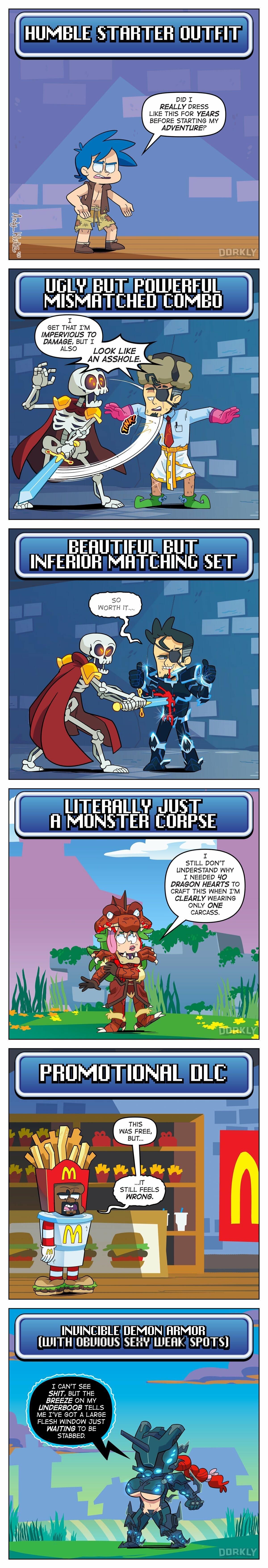 RPG armour humour