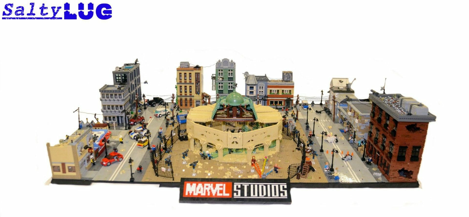 The Battle of Sokovia rebuilt LEGO brick by brick