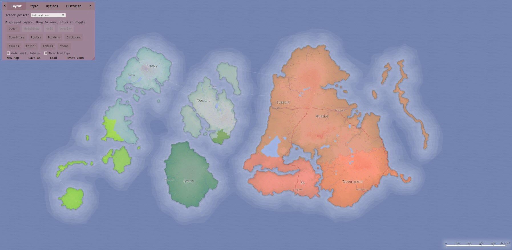 Fantasy map maker