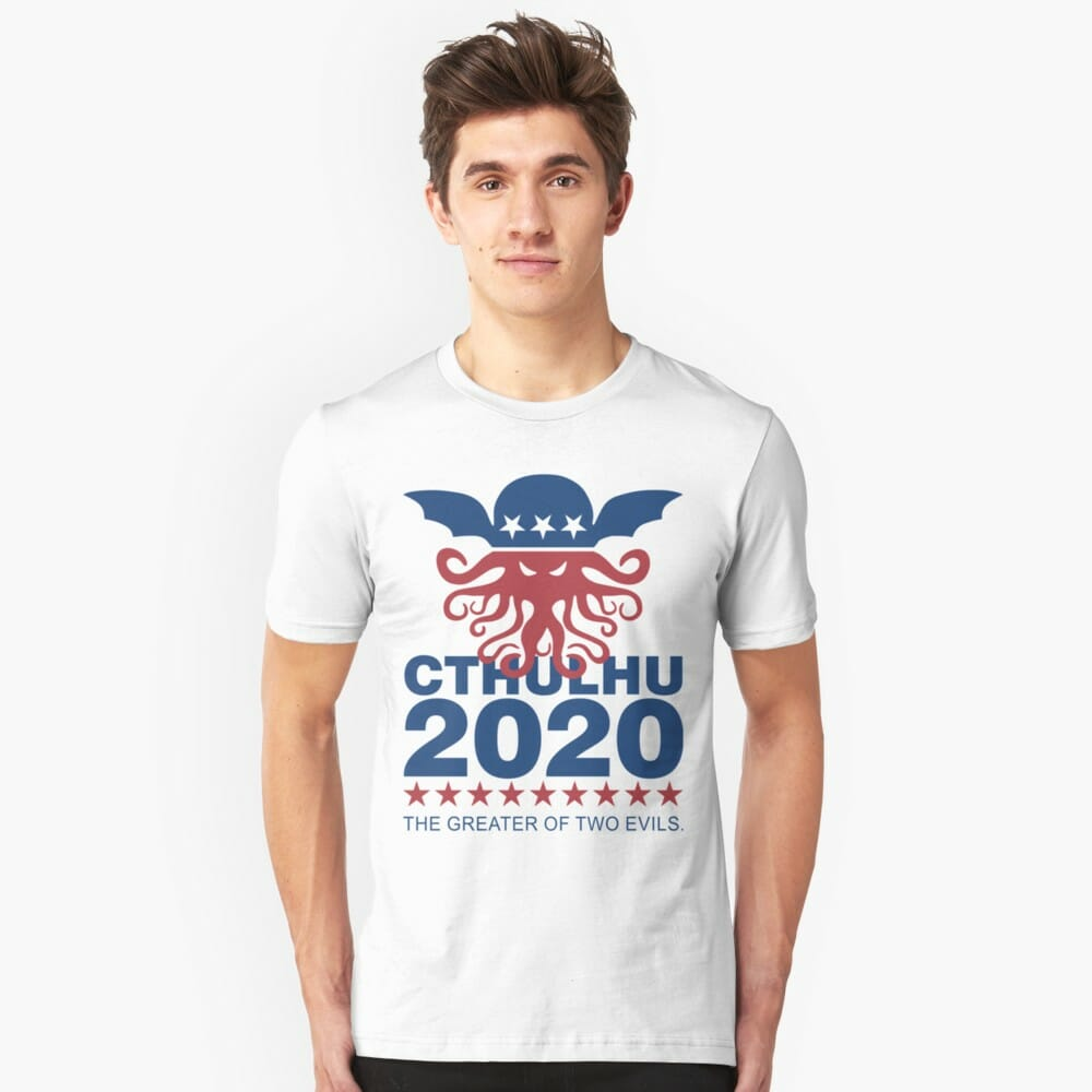 Lovecraft t-shirt: Vote Cthulhu
