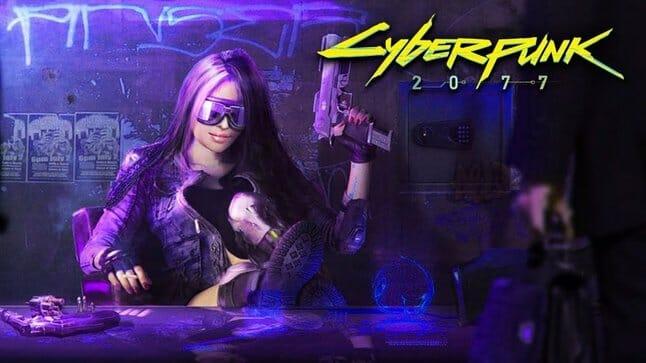 Concept art from Cyberpunk 2077