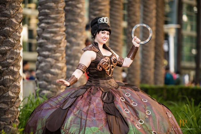 Bernadette Bentley as Xena Warrior Disney Princess