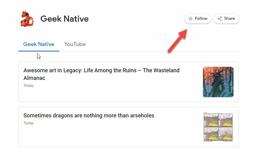 Geek Native on Google